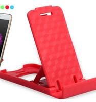 plastik telefon sehpaları toptan satış-Katlanır Mini Cep Telefonu Tutucu plastik Tembel Telefon standı Yatak Ekran telefonları Aksesuarları Tablet Samsung Galaxy Xiaomi