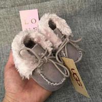 bebeğin bebek çizmesi toptan satış-2018 Kış Bebek Ayakkabıları Yenidoğan Erkek ve Kız Sıcak Kar Botları Bebek Yürüyor Prewalker Ayakkabı 0-1 T