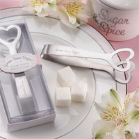 Wholesale shopping games for sale - Group buy Stainless Steel Clip Sugar Ice Tongs Event Party Wedding Supplies For Small Gift Game Prizes Heart Love Coffee Shop Decorations zl ZZ