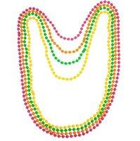 neon boncuk bilezikler toptan satış-Disko Neon 80 s 70 s Parti Dans Kostüm Boncuk uzun Kolye Bilezik Fantezi Elbise Bekarlığa Veda Geceleri Balo Sahne 4 in 1 hediye
