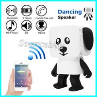 Wholesale new notebook phones resale online - New Multi Function innovative Mini Smart Bluetooth Speakers Dancing Robot Dog Design Wireless Speakers for MP3 MP4 Mobile Phone Pad Notebook