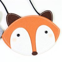 Venda por atacado - Cheap Hot Sale Baby Girls Cute Fox Fashion Coin Purse Wallet Moda Money Change Telefone Chave Storage Bag Zipper Ladies Purese