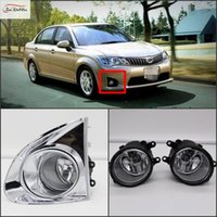 Wholesale car light plates frames online - Car Fog Lights For Toyota AXIO Clear Front Fog Lamp Plating frame Cover Fog Lamp Replace Assembly kit Bulb H11 V W one Pair