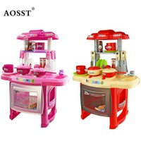 ingrosso bambini che giocano insieme giocattoli giocattolo-Kids Kitchen Toys Pretend Gioca Cooking Toys Set di stoviglie Baby Kitchen Cooking Simulation Happy Pretend Play