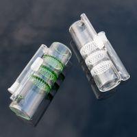 grüne asche fänger wabe groihandel-Glas Aschefänger Dicker Waben und Turbine 14mm 18mm Aschefänger Schüssel Grüner Aschekasten für Glas Bong Wasserpfeifen