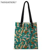 Wholesale vintage pug - TWOHEARTSGIRL Vintage PU Pug Dog Handbag for Women Girls Crossbody Beach Tote Bag Organizer with Pockets Shoulder Shopping Bag