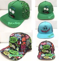 Wholesale Crazy Anime Wholesale - Rick and Morty New Khaki Dad Hat Crazy Rick Baseball Cap American Anime Cotton Embroidery dad hats Snapback Anime lovers Cap Men Women