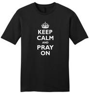 christian t shirts xl achat en gros de-Funniest T Shirts Jamais Col ras du cou Keep Clam Prier Sur Sofcute Christian God Z2 Compression T Shirts Pour Hommes