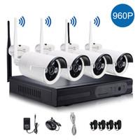netzwerk nvr für ip-kameras großhandel-1280 * 960P Wireless System Netzwerk / IP Kamera 4CH 960 P HD WIFI NVR AUTO-PAIR Wireless CCTV Überwachungssysteme Home Security