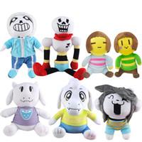 Wholesale undertale plush sans online - EMS cm Undertale Sans Papyrus Asriel Toriel Stuffed Doll Plush Toy For Kids Christmas Gifts H049