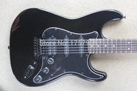 Wholesale high string guitar - custom guitar factory 2015 New!!! Real photo Custom F ST high quality St black Color Electric Guitar 1111