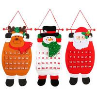tierverzierungen großhandel-1 STÜCK 68 CM Weihnachten Adventskalender Weihnachtsmann Schneemann Elch Tier Weihnachten Neujahr Weihnachtsschmuck Home Office Dekoration