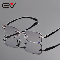 новые оправы с титановой рамой оптовых-2016 New Elite  Pure Titanium Rimless Eyeglasses Frames Men Diamond Cutting Myopia Hyperopia Optical Glasses EV1264