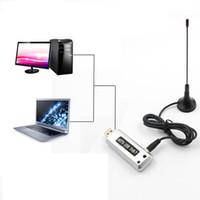 Wholesale usb hdtv receiver resale online - 1pc USB DVB T Digital TV Receiver HDTV Tuner Dongle Stick Antenna IR Remote