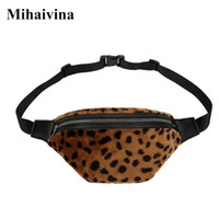 сумка для холщовых сумок оптовых-Mihaivina New Women Waist Bag Leopard Belt Bags Fanny Pack Money Waist Pouch Travel Canvas Belt Holiday Wallet Female Chest Bag