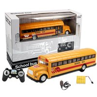 Wholesale cars school bus - Simulation Remote Control School Bus 2.4G Radio RC Car Toys for Children Model Electric RC Car Toy for Kids