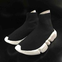 Wholesale plastic mesh cloth - 2018 High Quality Unisex Casual Shoes Flat Fashion Socks Boots Woman New Slip-on Elastic Cloth Speed Trainer Runner Man Shoes Outdoors 36-47
