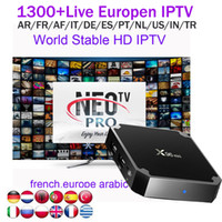 Wholesale uk euro - x96mini 1G with NEOTV 1Year European Arabic IPTV Account subscription Euro French Germany Turkish African live channels for android 7.1 box