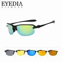 gafas de ciclismo polarizadas amarillas al por mayor-Nuevo estilo polarizado gafas de sol de conducción Moda Vintage Hombres Deporte Gafas de sol Gafas de visión nocturna amarillas para ciclismo L1012KP