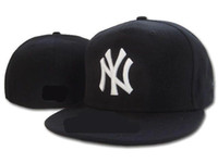 Wholesale Fitted Hats Baseball Caps - 2018 HOT NY Fitted Hats sports hats baseball hats for men and women High quality