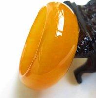 ingrosso braccialetti di giada gialla-Bracciale di giada Xinjiang Bracciale in giada gialla di Hetian, seta color oro, Gobi ha allargato il topazio