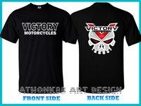venda da fábrica do logotipo venda por atacado-Victory Motorcycles Logo Camiseta Victory Factory Racing Crânio Cheap Venda Quente T-Shirt