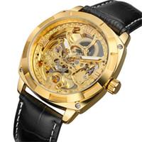 8a4a0906e49 FORSINING Mecânico Mens Relógios De Pulso Automático Esqueleto Homens  Relógio Do Vintage Steampunk Relógio Transparente Relógio de Pulso montre  homme
