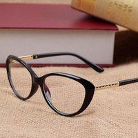 brillenfassungen für frauen großhandel-Frauen Retro Cat Eye Brillen Marke Brille Optische Brillengestell Vintage Computer Lesebrille oculos