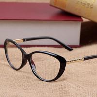 gafas de ordenador de las mujeres al por mayor-Mujeres Retro Gafas de Ojo de Gato Gafas de Marca Gafas Óptica Marco de Anteojos Vidrios de Lectura de Computadora Vintage oculos