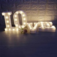 Wholesale engagement table - Letter Led Night Light Love &3d Table Lamp Romantic For Wedding Engagement Anniversary Bridal Shower Hen Party Bar Decoration