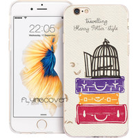 Wholesale Harry Potter Iphone 4s - Travelling Harry Potter Clear Soft TPU Silicone Phone Cover for iPhone X 7 8 Plus 5S 5 SE 6 6S Plus 5C 4S 4 iPod Touch 6 5 Cases.