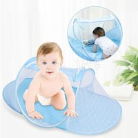 Wholesale blue baby girl bedding for sale - 50 Mosquito Net Tent Portable Baby Crib Multi Function Cradle Bed Infant Foldable Mosquito Netting for Girls Bed MMA196