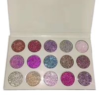 Wholesale New Products Beauty - New Glamierre Glitter Eyeshadow Palette 15 Colors Makeup Shimmer Glitter Eye Shadow Palette Beauty Cosmetic Products 3001066