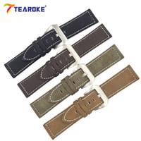 fivela de aço inoxidável artesanal venda por atacado-7 cor handmade matte couro watch band homens mulheres 18mm 20mm 22mm 24mm aço inoxidável fivela cinta para pulseira marrom