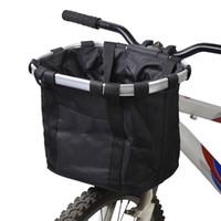 cuadros de bicicleta de aleación de aluminio al por mayor-Lixada Bolsa de bicicleta Cesta de la bicicleta Mochila de bicicleta Aleación de aluminio Portador de la bicicleta Bolsa de transporte frontal Bolsa para mascotas Mochila exterior