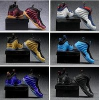 Wholesale copper spray - HOT Penny Hardaway Foams Men Basketball Shoes Sneakers One pro Eggplant spray Copper jet Royal us 7-13