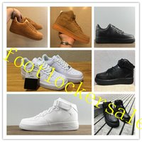 Wholesale Force Lights - High Quality Forces Classical All White Black Gray Low High Cut Men & Women Sports Sneakers Running Shoes Forceing one Skate Shoes 36-46