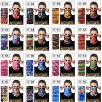 magische kopfbedeckung groihandel-16 Farben 48 * 24 cm Floral Magic Schals Kopf Gesichtsmaske Snood Neck Warmer Radfahren Nahtlose Outdoor Turban Headwear Schal Schals Handtuch AAA420