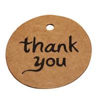 ingrosso marrone invito-100 Pz / borsa nuovo fai da te Vintage Kraft Paper Brown segnalibri della scheda del messaggio per congratulazioni, grazie invito del regalo