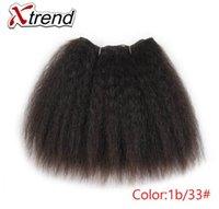 sentetik örgüler toptan satış-Sapıkça Düz Saç Demetleri Afrika Siyah Kadınlar Için 8 inç 14 inç Kısa Sentetik Saç Örgü Kanekalon Kıllar Atkılar 1-4 adet