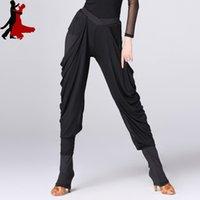 pantalones modernos al por mayor-Nueva franja de moda sexy trajes de baile latino de las mujeres pantalones modernos pantalones de práctica estándar nacional freeshipping venta caliente