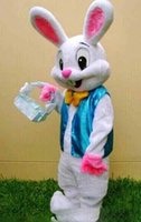 Wholesale making cartoon movies - 2018 brand new Mascot Costume Adult Easter Bunny Mascot Costume Rabbit Cartoon Fancy