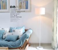 piso de led para casa al por mayor-Nueva promoción de la tienda Casa familiar Hotel Decoración Blanco y negro sombra LED luz de piso Lámpara de pie moderna E27 Socket AC 90-260V