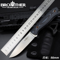 Wholesale self defense knives for sale resale online - Brother F001 Fixed Blade Straight knife Tactical Micarta knives Kydex Hunting Survival EDC Tool Collection Factory promotion for sale