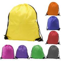 moda külotlu sırt çantası toptan satış-Yeni moda çocuk giyim ayakkabı çantası Okul İpli Dondurulmuş Spor Salonu PE Dans Sırt Çantaları ücretsiz kargo