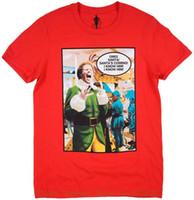film elves achat en gros de-Mens T-Shirts Mode 2018 Elf Film Santas À Venir T-shirt Rouge Noël Ferrell Top Hommes