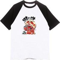 doraemon de moda al por mayor-Ataque contra Doraemon Camisetas Verano Hombres / Mujeres Ropa O-cuello de algodón Raglán Manga Cartoon Anime Camiseta