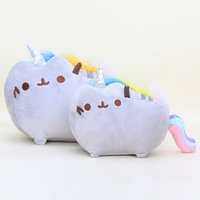 Wholesale 15 cm Pusheen Cat Plush Toys Cookie Rainbow unicorn Doughnut Rainbow Angle Fat Cat Doll Toys Stuffed Animals Toys