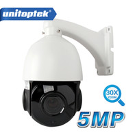 Wholesale New Ptz Ip Camera - NEW 4 Inch HD 5.0MP Mini PTZ IP Camera Outdoor H.265 Network ONVIF Speed Dome 30x Optical Zoom IP PTZ Camera CCTV 50m IR Night V