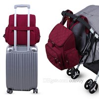 Wholesale mommy bags - New LANDUO Mommy Backpacks Nylon Nappy Bags Mother Maternity Diaper Backpack with mat Large Volume Outdoor Travel Bags Organizer MPB37